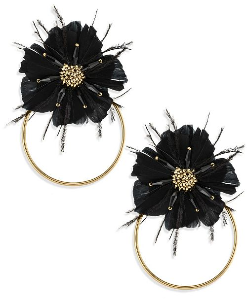ZAXIE by Stefanie Taylor Zaxie Moody Hues Flower Hoop Earrings