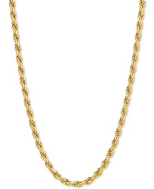 "Rope Link 20"" Chain Necklace in 18k Gold-Plated Sterling Silver"