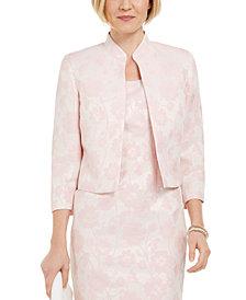 Kasper Floral Metallic Jacquard Jacket