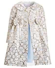 Toddler Girls 2-Pc. Floral Brocade Coat & Dress Set