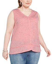 Plus Size Burnout Tank Top, Created for Macy's