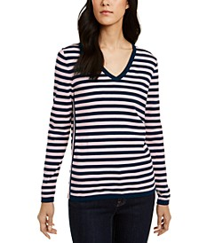 Cotton Striped Ivy Sweater