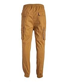 Men's Cotton Stretch Twill Cargo Joggers