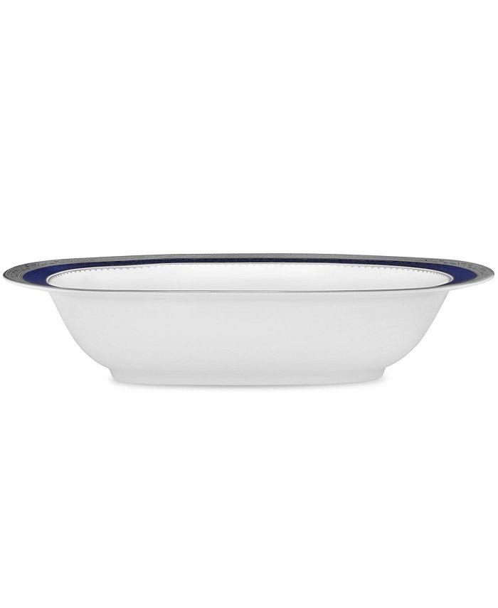 Noritake - Odessa Cobalt Platinum Oval Vegetable Bowl, 24 Oz.