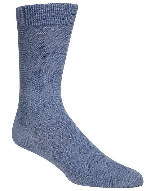 Cole Haan Men's Tonal Argyle Crew Socks