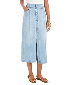 Petite Denim A-Line Skirt, Created for Macy's