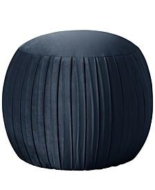 Larell Round Shirred Ottoman