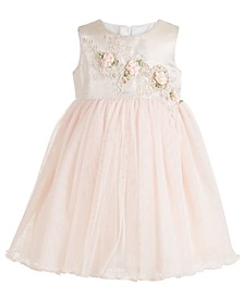 Baby Girls Flower & Tulle Party Dress
