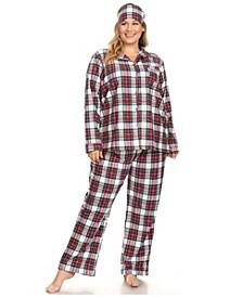 Plus Size 3-Piece Pajama Set