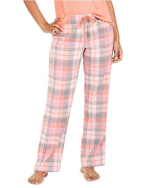 Jenni Printed Cotton Pajama Pants, Created For Macy's