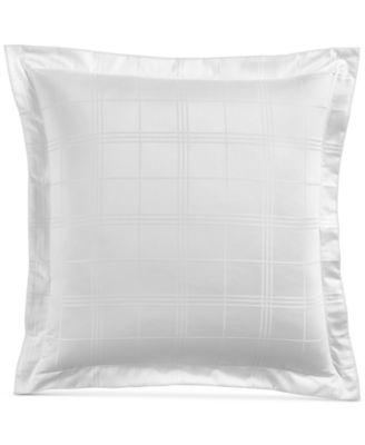 Windowpane European Sham, 550-Thread Count Supima Cotton, Created for Macy's