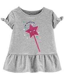 Toddler Girls Cotton I'm Magical Peplum Top