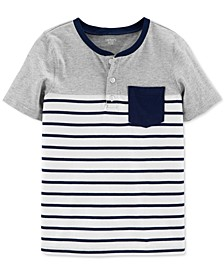 Little & Big Boys Cotton Striped Pocket Henley Shirt