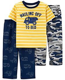Toddler Boys 3-Pc. Heavy Dozer Pajamas Set