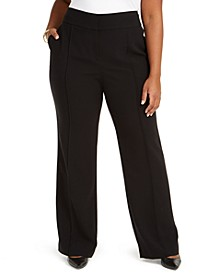 Plus Size High-Rise Trousers, Created for Macy's