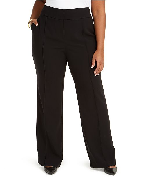 Alfani Plus Size High-Rise Trousers, Created for Macy's