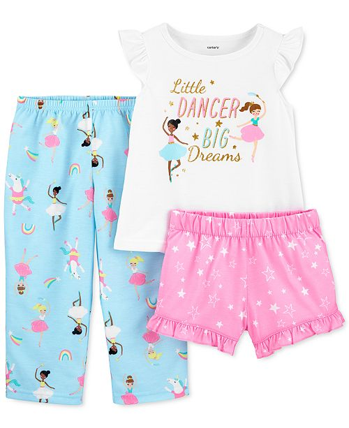Carter's Toddler Girls 3-Pc. Ballerina Pajamas Set