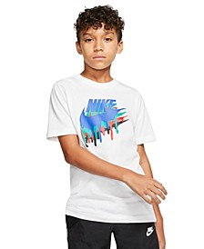 Big Boys Melted Crayon Logo-Print Cotton T-Shirt