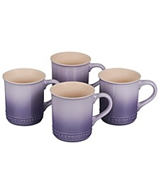 Set of 4 Stoneware Mugs
