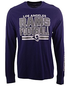Men's Los Angeles Rams Dub Stack Super Rival Long Sleeve T-Shirt
