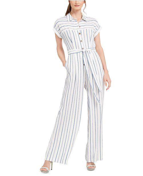 Calvin Klein Striped Jumpsuit