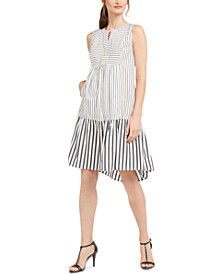 Cotton Striped Shift Dress