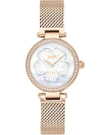 Women's Park Carnation Rose Gold-Tone Stainless Steel Mesh Bracelet Watch 26mm