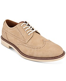 타미 힐피거 옥스포드 슈즈 Tommy Hilfiger Mens Gendry Wingtip Oxfords,Natural