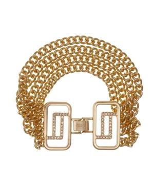 Gold Tone Chain Clasp Bracelet