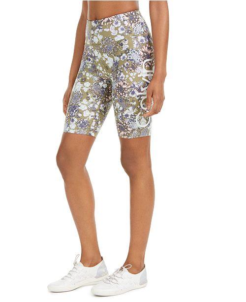 Calvin Klein Floral-Print High-Rise Bike Shorts