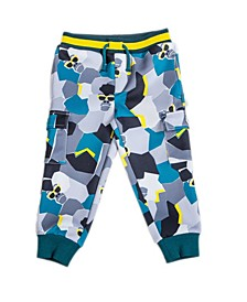 Toddler and Little Boys Tossed Print Gorilla Jogger