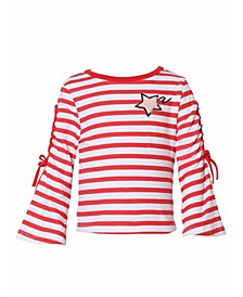 Toddler, Little, and Big Girls Bell Sleeve Tee