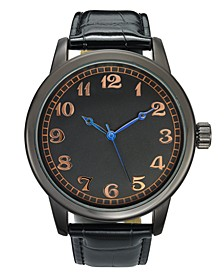 INC Men's Black Strap Watch 46mm, Created for Macy's