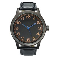 Deals on INC International Concepts Black Strap Watch 46mm