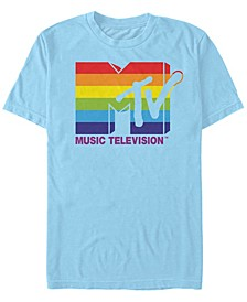 Men's Rainbow Pride Logo Short Sleeve T- shirt