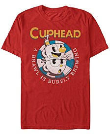 Men's Mugman Poker Chip Brewing Brawl Short Sleeve T- shirt