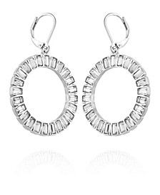 Holiday Sparkle Front Facing Hoop Earring