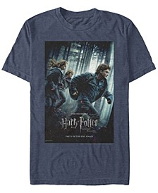 Harry Potter Men's Deathly Hallows Part One Poster Short Sleeve T-Shirt