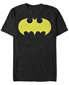 DC Men's Batman Classic Yellow Bat Logo Short Sleeve T-Shirt