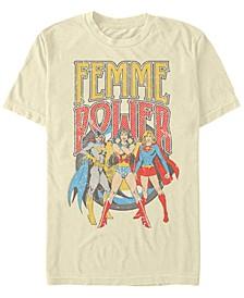 DC Men's Justice League Femme Power Short Sleeve T-Shirt