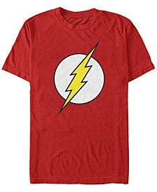 DC Men's The Flash Classic Lightning Bolt Logo Short Sleeve T-Shirt