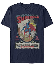DC Men's Superman The Complete Story Comic Cover Short Sleeve T-Shirt