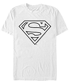 DC Men's Superman Simple Line Art Logo Short Sleeve T-Shirt