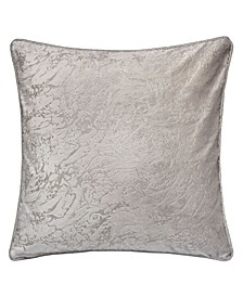 Amelia Velvet Throw Pillow, Cloudy Dream