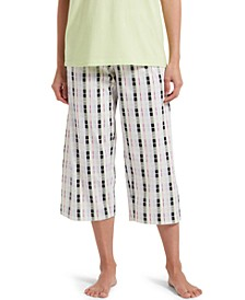 Plaid Capri Pajama Pants