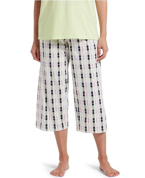 Hue Plaid Capri Pajama Pants