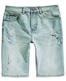 Big Boys Stretch Destroyed Denim Shorts, Created For Macy's