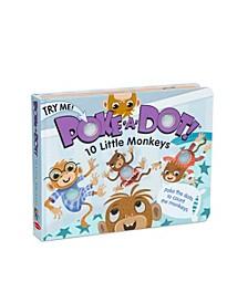 Melissa Doug Children's Book - Poke-a-Dot: 10 Little Monkeys Board Book with Buttons to Pop
