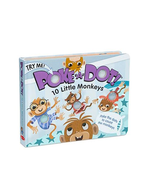 Melissa and Doug Melissa Doug Children's Book - Poke-a-Dot: 10 Little Monkeys Board Book with Buttons to Pop