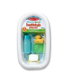 Melissa Doug Mine to Love Baby Doll Bathtub and Accessories Set 6 pcs - White